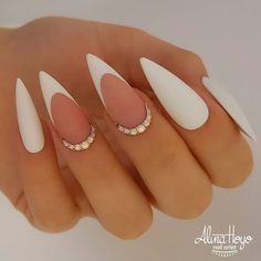 White Acrylic Nails, Best Acrylic Nails, White Nails, White Sparkle Nails, Matte Pink Nails, Square Acrylic Nails, Almond Acrylic Nails, Leopard Nails, French Nail Designs