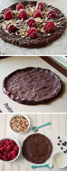 Chocolate Raspberry Pizza | Click Pic for 18 Easy Fruit Pizza Recipes | Healthy Fruit Pizza Desserts