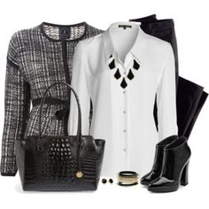 Black Purse and Boots