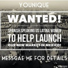 Could you use an extra $500 or more a month? Are You #Bilingual? Are you #motivated? If yes, message me! I want you to #join my #Younique #family. I'm looking for 5 ladies to #work closely with. You can be a #StayHomeMom with a part time #job, getting full time #pay. message me for details! ♡ No Inventory, No Auto Ship, No Monthly Fees, #FREE website, paid daily, Earn FREE MAKEUP! #financialfreedom #workfromhome #beachmoney #vacation #workingmom #latinasunite #youniquelatinas #youniquemexico…