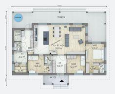 Tikli - Lammi Kivitalo Bungalow, Design Elements, Beach House, Architecture Design, House Plans, Sweet Home, Floor Plans, Cottage, Exterior