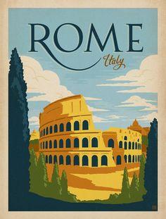 Slap! Affiche vintage - Rome 1