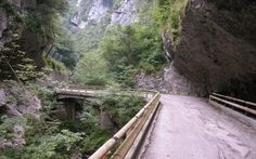 """""""The old road of Val Cellina"""" in Riserva Naturale Forra del Cellina, Italy"""