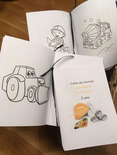 Cahier de coloriage anniversaire chantier construction party Free printable