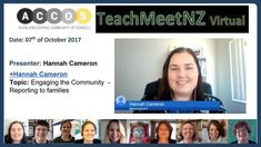 TeachMeetNZ -Cameron_Hannah Video Link, Presentation