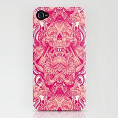 detailed skull wallpaper iphone case