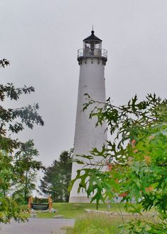 Tawas Point Lighthouse at East Tawas, Michigan, photo by Kathleen Mendel