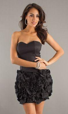 Black Juniors Short Party Dress