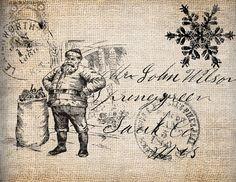 Christmas: Santa Postcard Printable