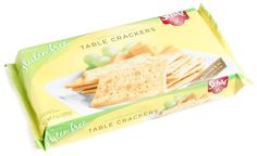 Schar Naturally Gluten-Free Table Crackers, 7.4 -Oz.  Packages (Pack of 6). Unique buttery taste. Sch?r, european leader in gluten-free foods with over 25 years of experience. Founded in 1922, Dr. Made from potato starch and corn starch, these buttery table crackers are the ideal snack. SchΣr has been dedicated in the development of great tasting gluten-free foods for more than 25 years. Gluten-free, wheat-free, lactose-free, no preservatives, no hydrogenated oils, no trans fat.
