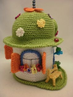 crochet House The Flowers House. Toy crochet pattern PDF by ToyMagic on Etsy, €2.99 ❀ crochet  ❀ House ❀ diy ❀ Casitas ❀