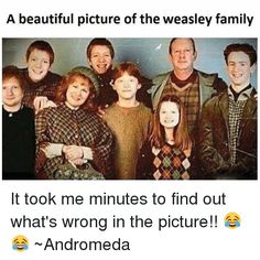 Image result for can you find out what's wrong with this photo Weasley