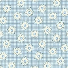 "108"" Storybook Daisies Wide Quilt Backing - Blue"