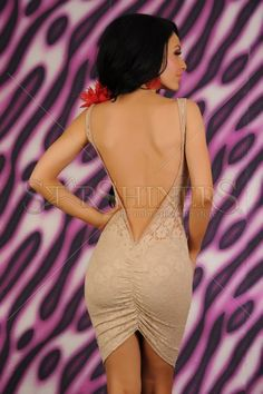 Rochie Fofy Charming Back Cream