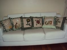 Conjunto de almofadas. www.saldaterrapatchwork.blogspot.com