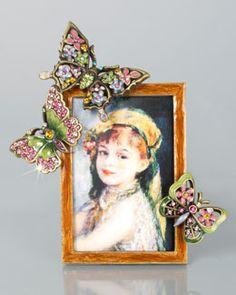 """H7AVT Jay Strongwater Kira 2"""" x 3"""" Butterfly Frame"""