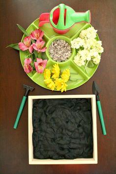 Flower Garden Play Dough Invitation