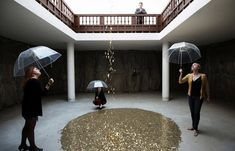 This is incredible. Inspired by the Greek myth of 'Danae', the falling gold coin installation by Vadim Zakharov  | Via My Modern Metropolis