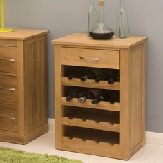 contempo oak wine rack