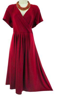 18W 2X SEXY Womens ROAMAN'S DARK RED DRESS Spring Summer Wedding Party PLUS SIZE #Roamans #Versatile