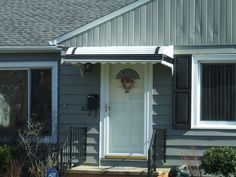 Front Door And Porch Awning By Fairview Home Improvement In Cleveland Ohio