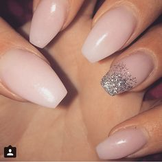 Nude coffin nails