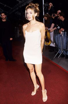Sarah Jessica Parker in 1997 posing in sexy slip dress
