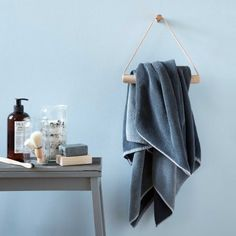 BY WIRTH Towel Hanger Leather + Oak --- Towel hanger designed by Signe Wirth Engelund for By Wirth.Materials: Solid oak wood and beautiful natural leatherColour: NatureSize: Height 22 cm x Length 25 cm