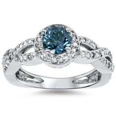 <li>Blue diamond ring</li><li>14k white gold jewelry</li><li><a href='http://www.overstock.com/downloads/pdf/2010_RingSizing.pdf'><span class='links'>Click here for ring sizing guide</span></a></li>