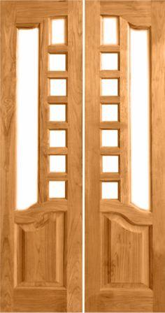 Burma Teak Wood Door in beautiful designs and in all sizes. Wooden Front Door Design, Double Door Design, Door Gate Design, Wooden Front Doors, Wood Doors, Pooja Room Door Design, Door Design Interior, Modern Wooden Doors, Pooja Rooms