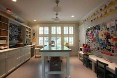 The hobby room for building crafts in this new Mercer Island house - kid friendly