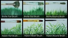 How to Paint Grasses Using Different Brushes by JM Lisondra