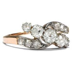 The Power of Love - Prachtvoller Diamant-Ring in Gold & Platin,Großbritannien um 1905 von Hofer Antikschmuck aus Berlin // #hoferantikschmuck #antik #schmuck #antique #jewellery #jewelry