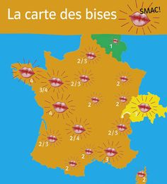 la carte des bises en France
