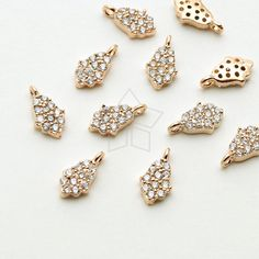 10Pcs Cross Theme Beads Connector Charms Pendants Faceted Glass Links with Brass Finding Lead Free for Jewelry Making Mixed Color