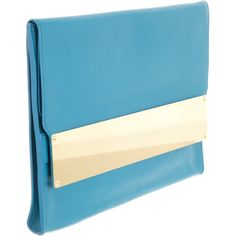 loveee Sophie Hulme's bags - the hardware is so amazing. Metal Tab Document Clutch at Barneys.com