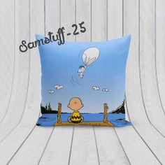 """Charlie Watch Snoopy Custom Design For Pillow Case 18""""x18"""" Limited Edition #Unbranded #pillowcase #pillowcover #cushioncase #cushioncover #best #new #trending #rare #hot #cheap #bestselling #bestquality #home #decor #bed #bedding #polyester #fashion #style #elegant #awesome #luxury #custom #snoopy #disney #cartoon #kid #movie #logo"""