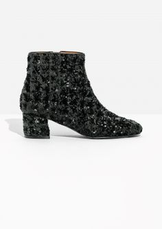 & Other Stories | Sequined Ankle Boot
