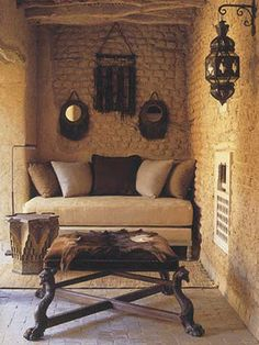 Moroccan décor - big style packed in a little nook