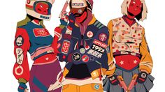 La moda urbana y el folclore japonés se encuentran en estas ilustraciones - Creators