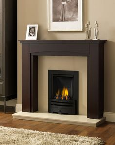 Demonstration of unified colour from chimney breast to the face within the fire surround. Windermere Fire Surround.