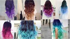 mechas californianas de color fucsia en cabello oscuro - Buscar con Google