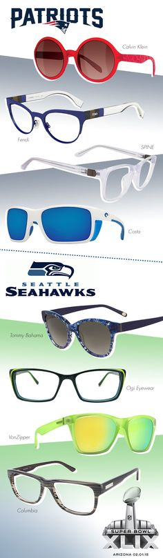 Score Big in Super Bowl-Themed Frames: http://eyecessorizeblog.com/2015/01/score-big-super-bowl-themed-frames/