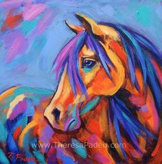 Blue Eyed Beauty Poster by Theresa Paden. All posters are professionally printed, packaged, and shipped within 3 - 4 business days. Choose from multiple sizes and hundreds of frame and mat options. poster Blue Eyed Beauty Poster by Theresa Paden Abstract Horse Painting, Painting & Drawing, Horse Paintings, Knife Painting, Oil Paintings, Horse Drawings, Equine Art, Horse Art, Horse Horse
