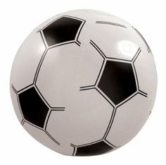 Bargain Inflatable Football 15.5 inches 40cm dia: Amazon.co.uk: Toys & Games