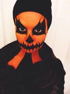 Halloween Pumpkin Makeup by Cass Lloyd