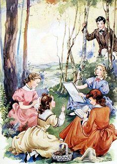 Book of the Week; Louis May Alcott's Little Women Illustrated by Rene Cloke www.marchhousebooks.com