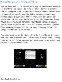 Bons sonhos com Sleep Timer para Android