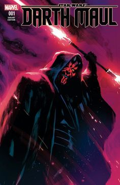 For Sale: Issue of Comic Shop News, featuring cover art of Star Wars' Darth Maul by Rafael Albuquerque for the new Marvel series. Picture featured is for the variant cover of issue Released in early Promo newspaper in Near Mint . Star Wars Fan Art, Star Wars Sith, Clone Wars, Star Trek, Darth Maul Comic, Lord Sith, Jedi Sith, Darth Maul Wallpaper, Rafael Albuquerque