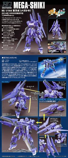 HGBF 1/144 MEGA-SHIKI - Release Info, Box Art and Official Images - Gundam Kits Collection News and Reviews